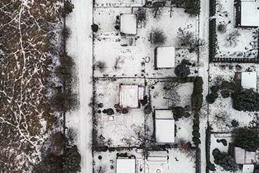Zdjęcie z drona na potrzeby dokumentacji Warszawskich działek