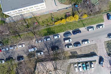 Zdjęcie z drona do ortofotomapy inwentaryzacyjnej zieleni