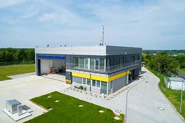 Zdjęcie dronem nowo otwartej bazy LPR w Gorzowie Wielkopolskim