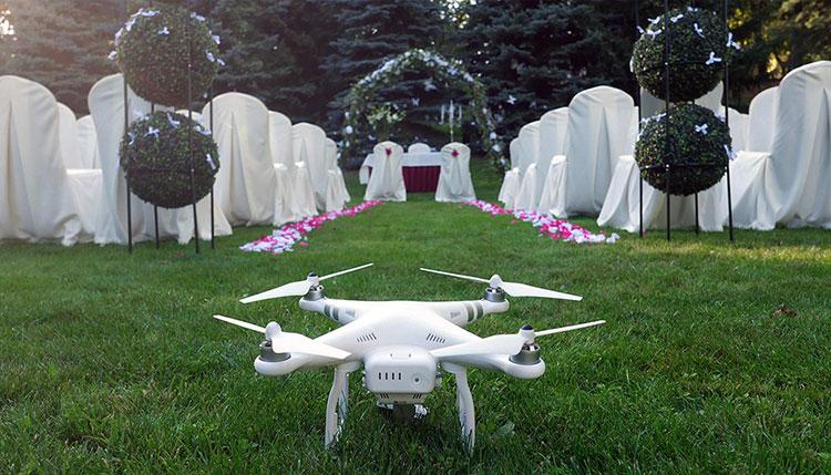 Filmowanie ślubu z drona - sesje plenerowe z powietrza