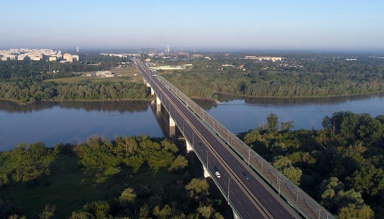 Ujęcia z lotu ptaka na sprzedaż - Most Północny w Warszawie