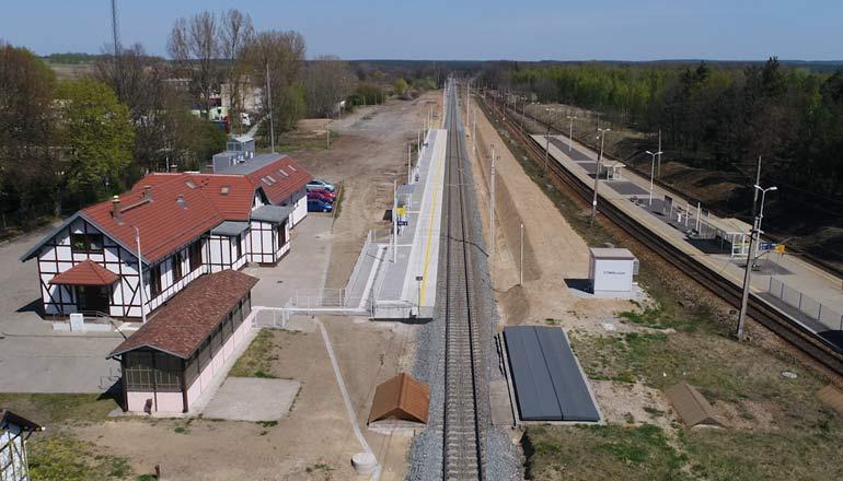 Ujęcia z lotu ptaka - Miejscowość Rudna i infrastruktura kolejowa