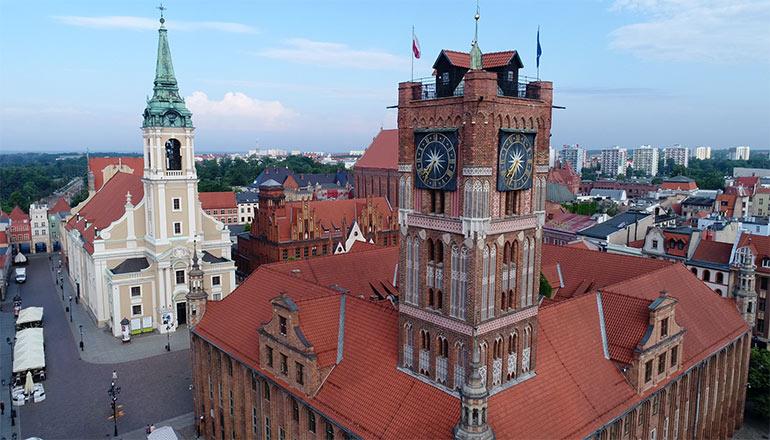 Ujęcia z drona na sprzedaż - Miasto Toruń i Stary Rynek
