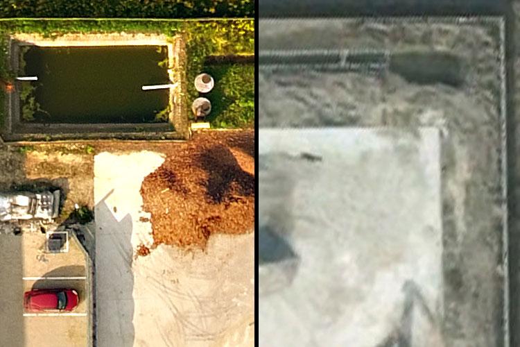 Porównanie jakości i szczegółowości ortofotomapy ze zdjęciami Google Earth