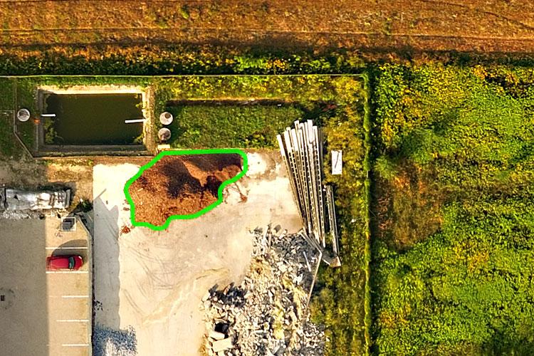 Pomiary objętości, powierzchni i odległości z drona. Zdjęcia fotogrametryczne z drona
