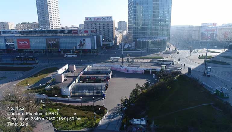 Ujęcia z drona na sprzedaż Centrum Warszawy podczas pandemii Covid-19 - Stock video