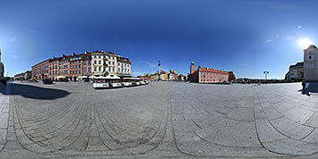 Panorama sferyczna Placu Zamkowego w Warszawie