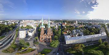 Panorama sferyczna Portu Praskiego w Warszawie