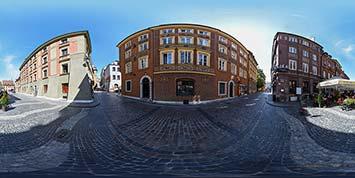 Panorama sferyczna Uliczek Starego miasta w Warszawie