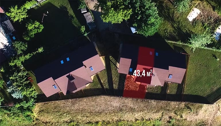Film sprzedażowy segmentów domków na sprzedaż na Mazurach