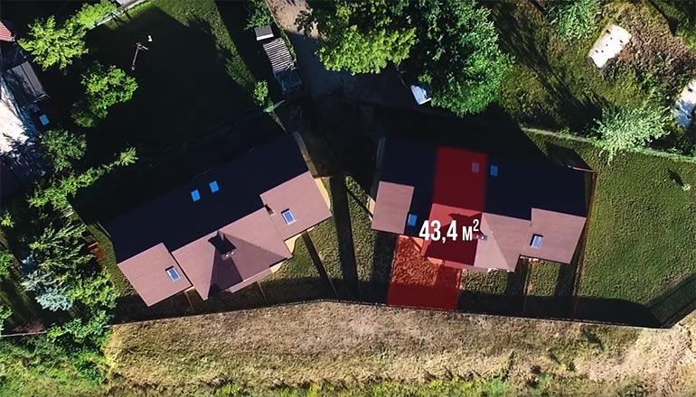 Film sprzedażowy segmentów domków na Mazurach