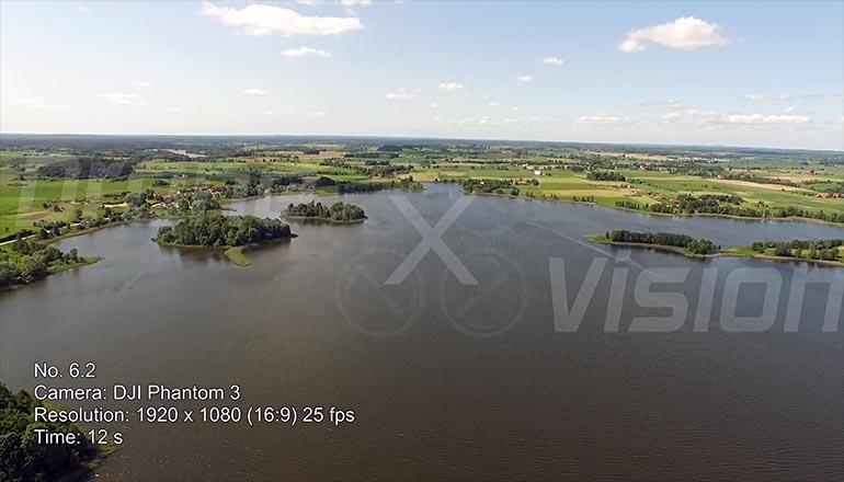 Ujęcia z drona mazurskich jezior - film stockowe na sprzedaż - część 1