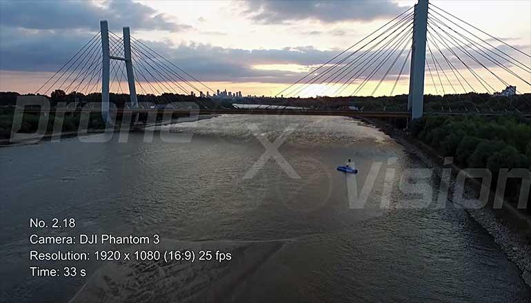 Ujęcia z drona mostu siekierkowskiego w Warszawie - część 2