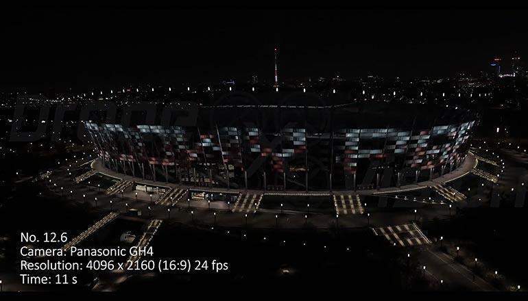 Ujęcia na sprzedaż z drona - PGE Stadion Narodowy w Warszawie