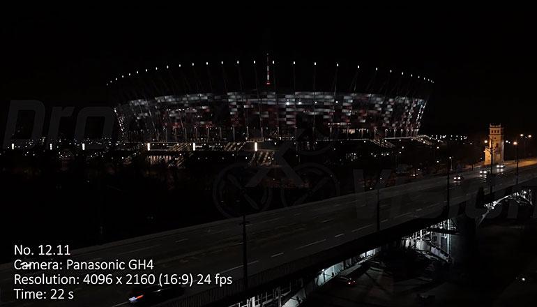 Ujęcia stockowe z drona na sprzedaż - PGE Stadion Narodowy w Warszawie