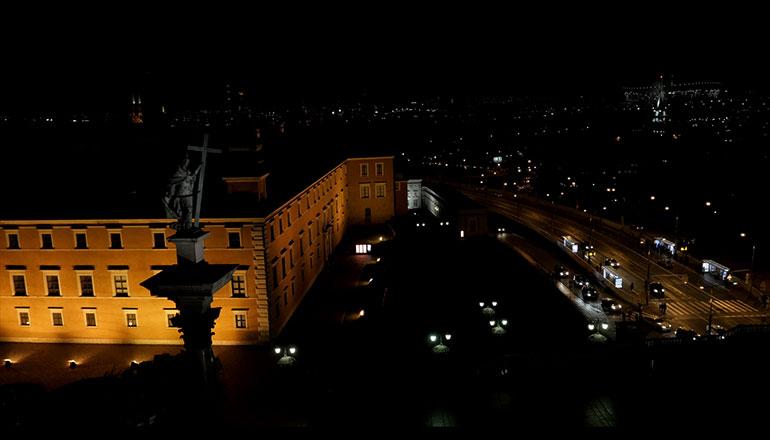Ujścia stockowe z drona Zamku Królewskiego w Warszawie na sprzedaż