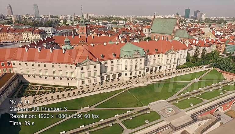 Ujęcia stockowe z drona Zamku Królewskiego w Warszawie - część 2