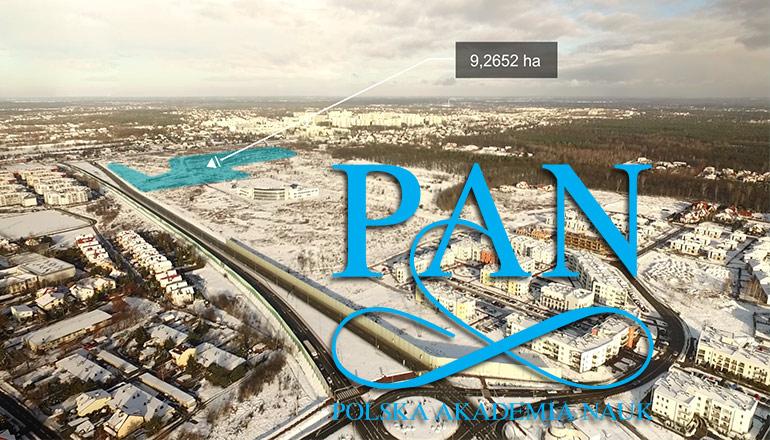 Film sprzedażowy terenów należących do PAN - Państwowa Akademia Nauk - Jabłonna