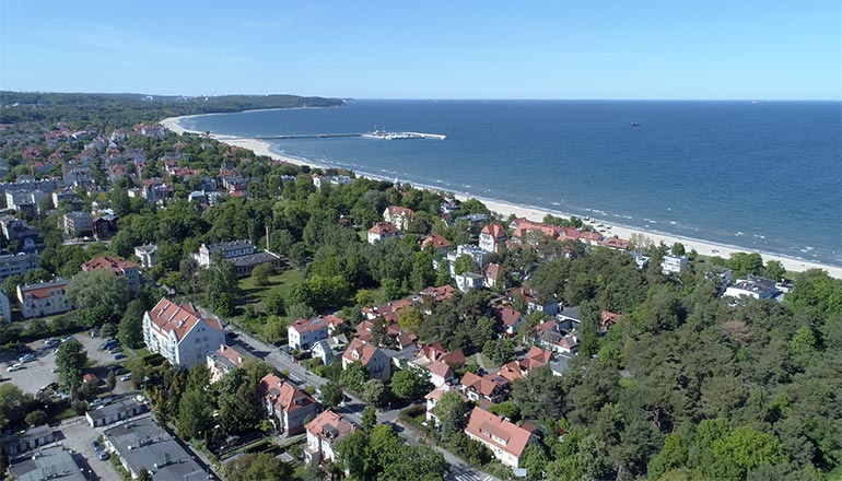Ujęcia z drona na sprzedaż - Miasto Sopot i okolice - Sopockie Molo, plaża i morze