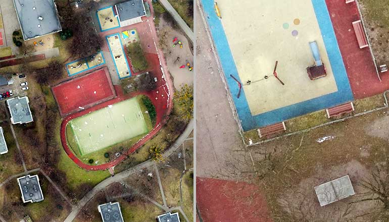 Drone X Vision - zdjęcia dronem do wykorzystania przy tworzeniu ortofotomap w fotogrametrii