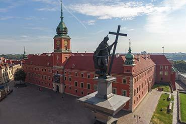 Drone X Vision - Zdjęcia z drona Warszawa - Stare Miasto i Kolumna Zygmunta