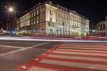 Fotografia nocna wykonana podczas sesji dla firmy Euroasflat