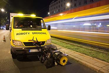 Zdjęcia nocne dla firmy Euroasflat - modernizacja przejść dla pieszych w Warszawie
