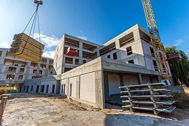 Zdjęcie placu budowy hotelu w Pile - Drone X Vision