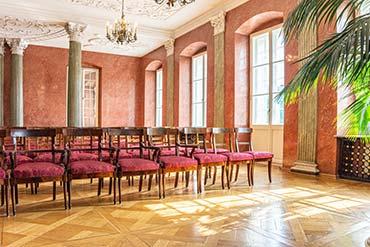 Fotografia wnętrza sali w Pałacu Działyńskich w Poznaniu - Drone X Vision