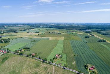 Zdjęcia z drona terenów na sprzedaż