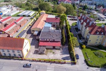 Zdjęcie z powietrza terenów na sprzedaż
