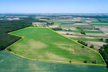 Zdjęcia terenów inwestycyjnych z drona